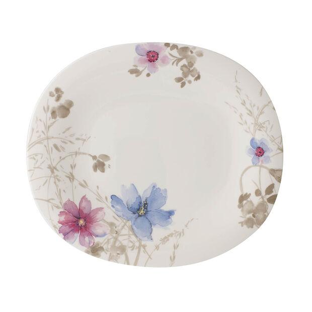 Mariefleur Gris Basic assiette plate ovale, , large