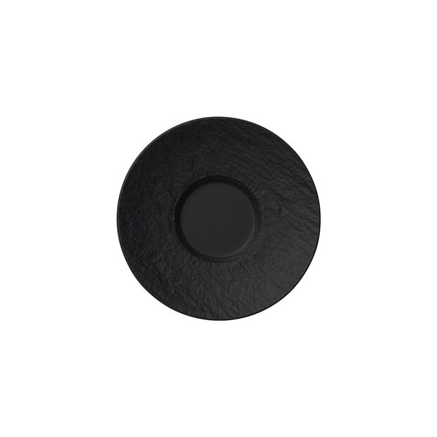 Manufacture Rock sous-tasse à expresso, noire/grise, 12x12x2cm, , large