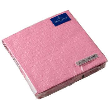 Serviettes en papier Caffe Club Floral Touch of Rose, 20pièces, 33x33cm