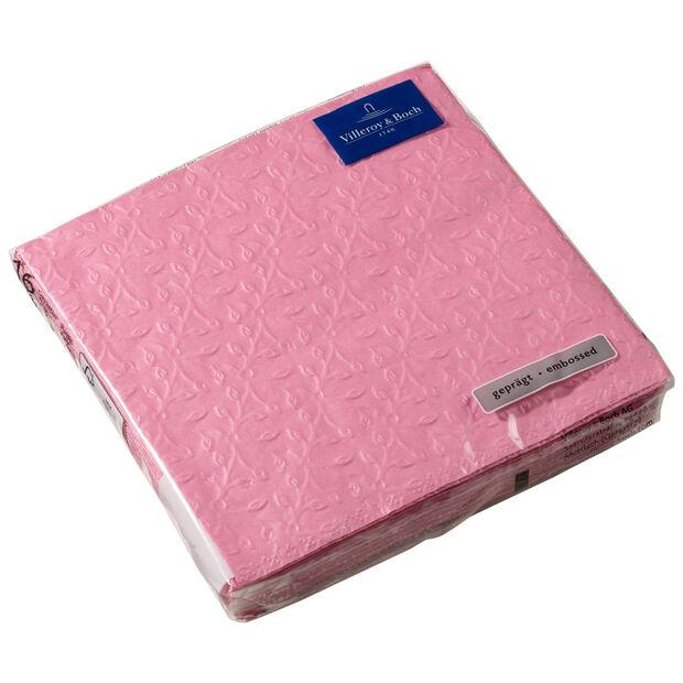 Serviettes en papier Caffe Club Floral Touch of Rose, 20pièces, 33x33cm, , large