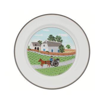 Design Naif assiette plate motif fermier