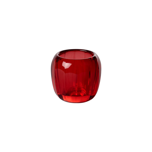 Coloured DeLight petit support pour bougie chauffe-plat Deep Red, , large