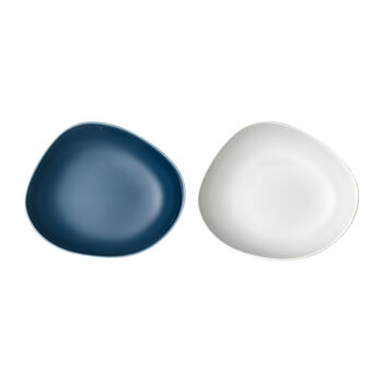 like. by Villeroy & Boch Organic assiette creuse, 2pièces, turquoise/blanc