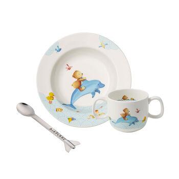 Happy as a Bear Ensemble de vaisselle pr enfants, 3pcs