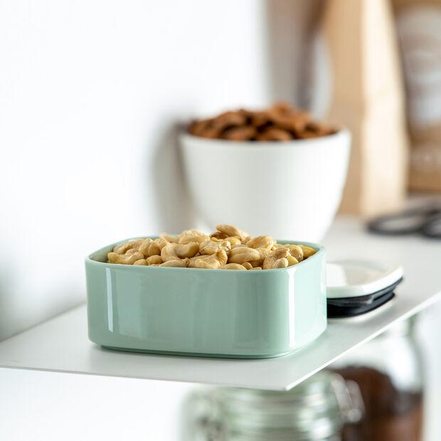 ToGo&ToStay boîte à repas, 13x10x6cm, carrée, vert menthe, , large