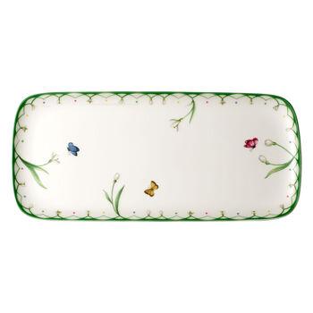 Colourful Spring plat à gâteau rectangulaire 35x16 cm