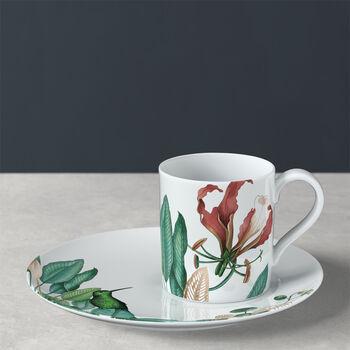 Avarua tasse à café avec sous-tasse, 210ml, blanche/multicolore
