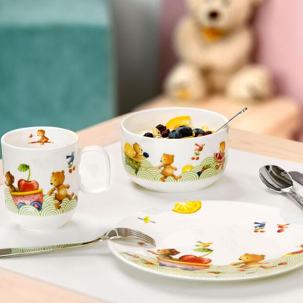 Hungry as a Bear Assiette plate pour enfants 21,5x21,5x1,5cm, , large