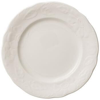 Rose Sauvage blanche assiette à dessert