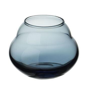 Jolie Bleue vase/support pour bougie chauffe-plat