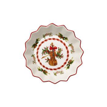Toy's Fantasy petite coupe motif violon, rouge/coloré, 17x17x3cm