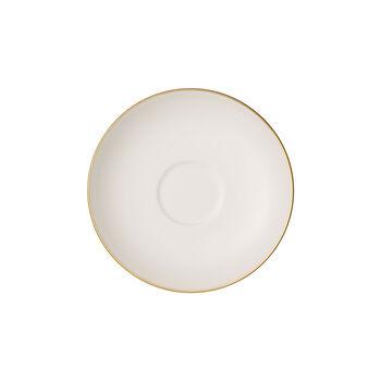 Anmut Gold sous-tasse à moka et expresso, diamètre 12cm, blanc/or
