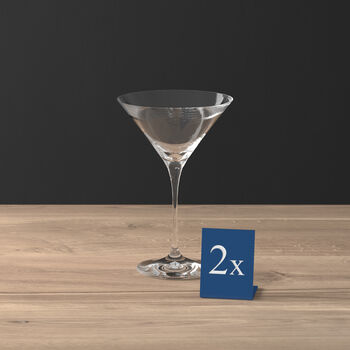 Purismo Bar verre à cocktail/Martini ensemble de 2pièces
