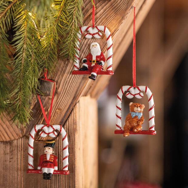 Nostalgic Ornaments Ornamente Harlequin,Teddy and Santa 3pcs, , large