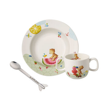 Hungry as a Bear Ensemble de vaisselle pr enfants, 3pcs