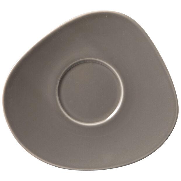 Organic Taupe sous-tasse à café, taupe, 17,5x16x2cm, , large