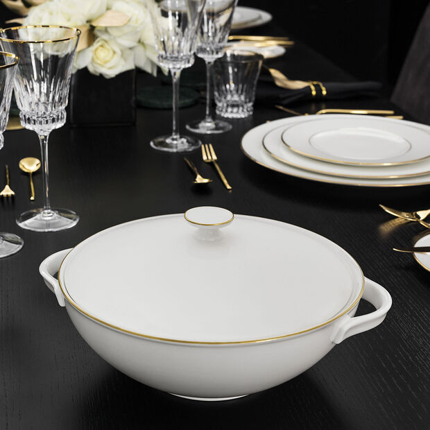 Anmut Gold soupière, blanc/or, , large