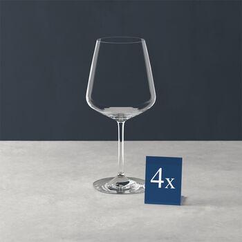 Ovid verre à vin rouge, ensemble de 4pièces