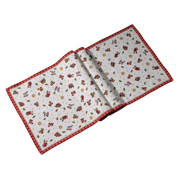 Toy's Delight chemin de table GobelinXL, rouge/multicolore, 49x143cm