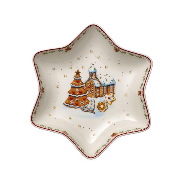 Winter Bakery Delight Coupe étoile moy., village en pain d'ép. 24,5cm, , large