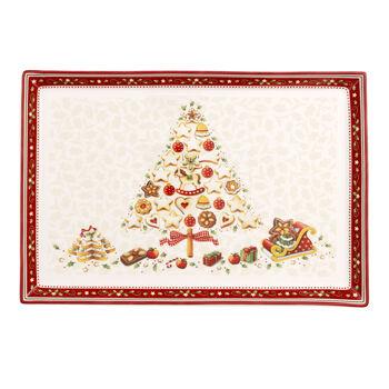 Winter Bakery Delight Plateau à gâteaux rectangulaire, grand 39x26,5cm