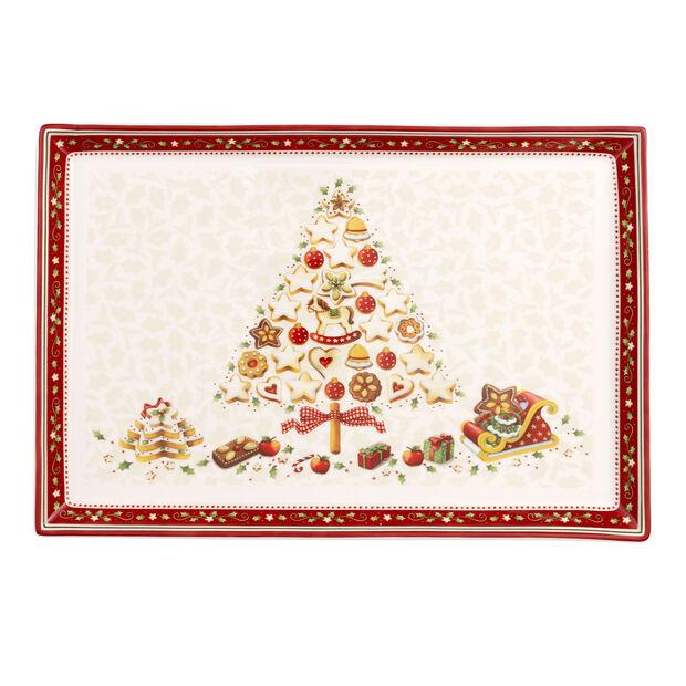 Winter Bakery Delight Plateau à gâteaux rectangulaire, grand 39x26,5cm, , large