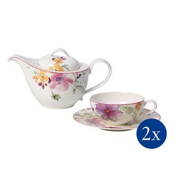 Mariefleur Tea Ensemble à thé, 5pièces, pr 2personnes