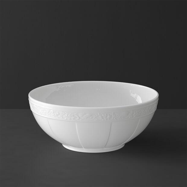 White Pearl plat creux rond grand modèle, , large