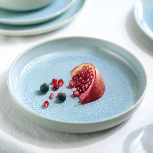 Crafted Blueberry assiette creuse, turquoise, 21,5cm, , large