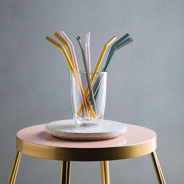 Artesano Hot&Cold Beverages Paille en verre Ensemble de 5pcs., , large