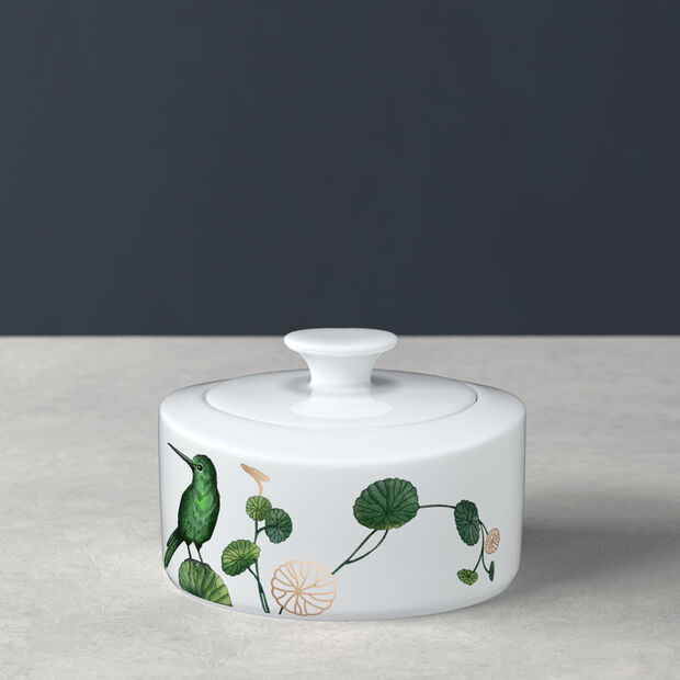 Avarua sucrier et confiturier, 330ml, blanc/multicolore, , large