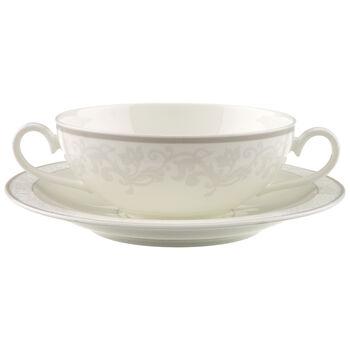Gray Pearl Tasse et soucoupe bouillon 2pcs