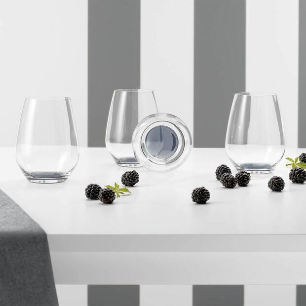 Colourful Life Cosy Grey ensemble de verres à cocktail/eau 4pièces, , large