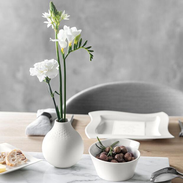 Manufacture Collier blanc Vase Perle petit 11x11x12cm, , large