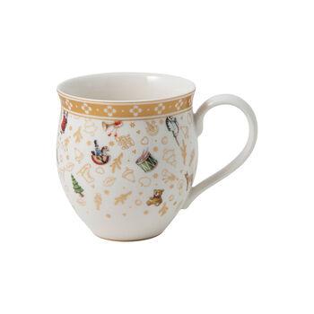 Toy's Delight mug à anse, édition anniversaire, multicolore/or/blanc, 340ml