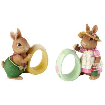 Spring Fantasy Accessories 2ronds serviette Anna/Paul 8,3x5x8,9cm