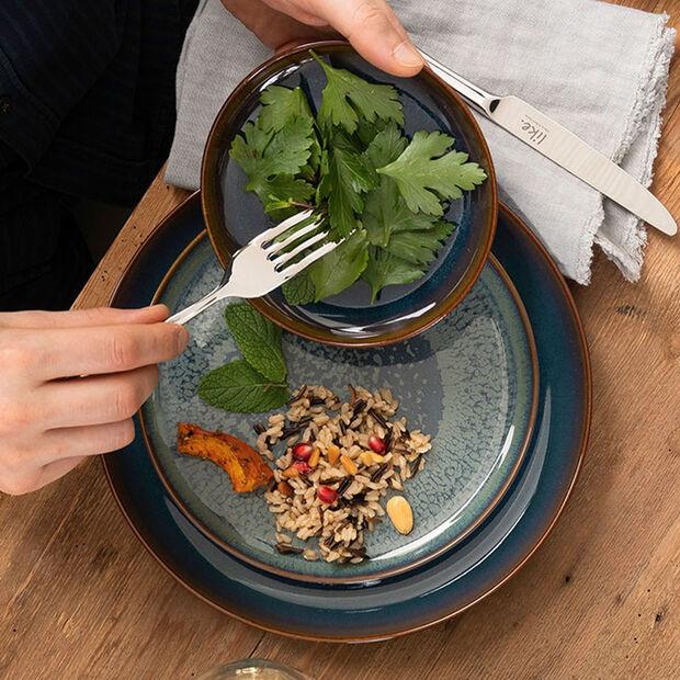 Crafted Denim assiette plate, bleu, 26cm, , large