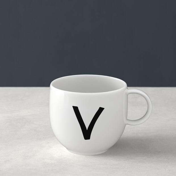 Mug Letters V 13x10x8cm, , large