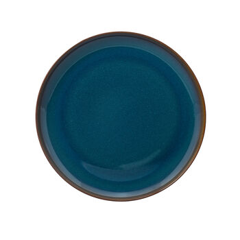 Crafted Denim assiette plate, bleu, 26cm