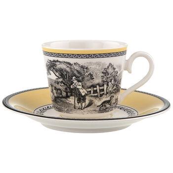 Audun Ferme Tasse à café/thé avec soucoupe 2pcs