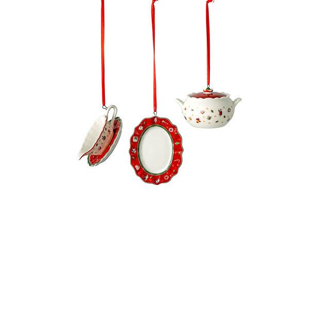 Toy's Delight Decoration ensemble d'ornements en forme de pièces à servir, 3x6cm, 3pièces, , large
