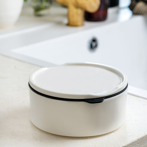 ToGo&ToStay boîte à repas, 13x6cm, ronde, blanche, , large