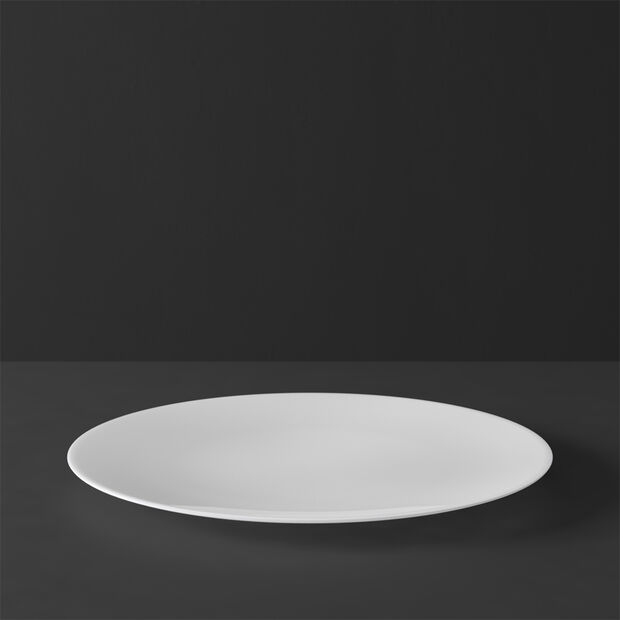 MetroChic blanc Assiette plate 27x27x2cm, , large