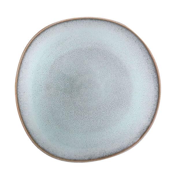 Lave Glacé assiette plate, turquoise, 28x28x2,7cm, , large