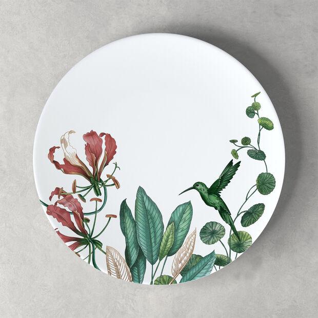 Avarua assiette plate, 27cm, blanche/multicolore, , large