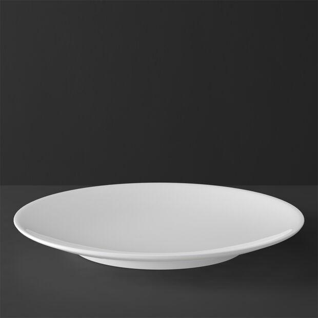 MetroChic blanc assiette de présentation et plat à tarte, diamètre 33cm, blanc, , large