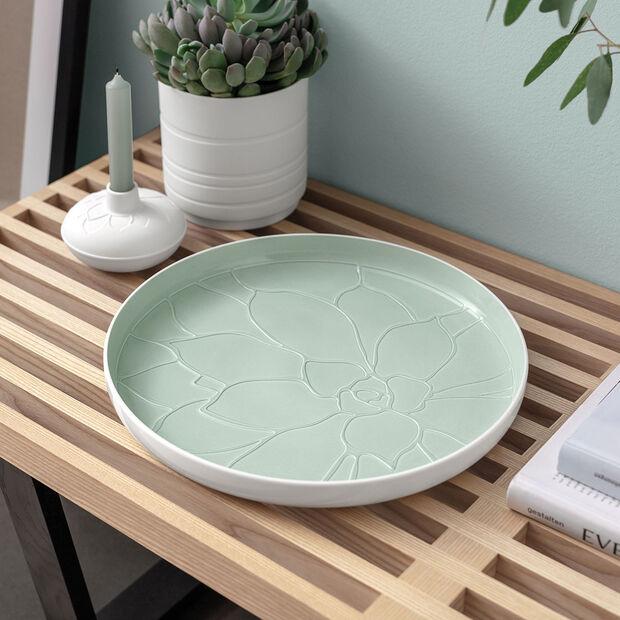 it's my home plateau Socculent, 34cm, vert/blanc, , large