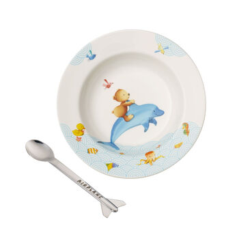 Happy as a Bear Ensemble pr le repas pr enfants, 2pcs