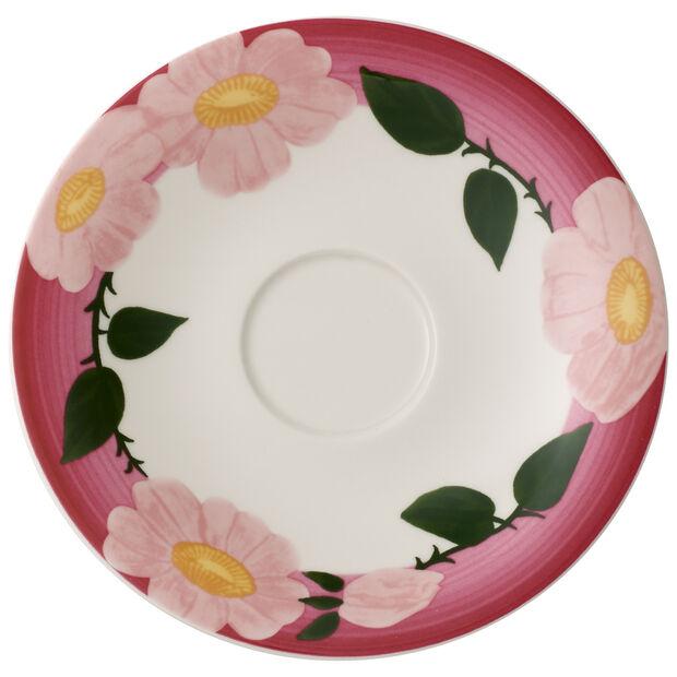 Rose Sauvage framboise sous-tasse pour le petit-déjeuner, , large