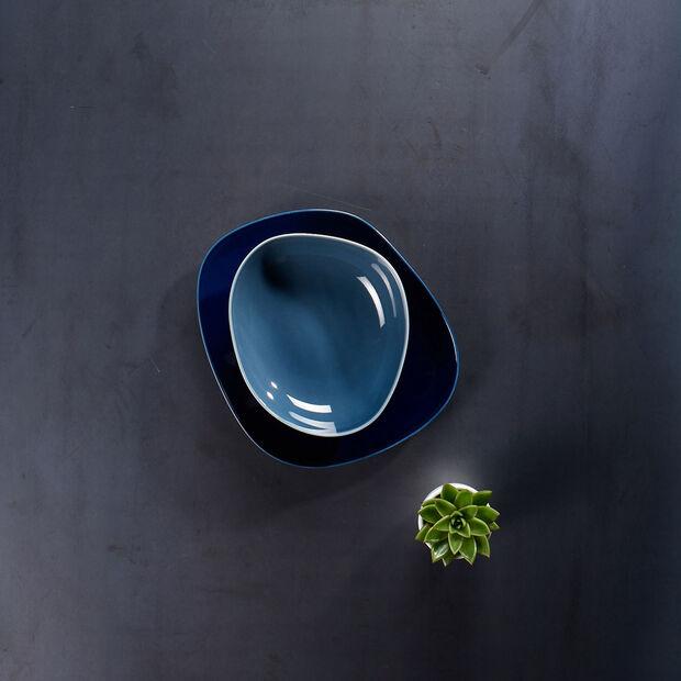 Organic Turquoise assiette creuse, turquoise, 20cm, , large